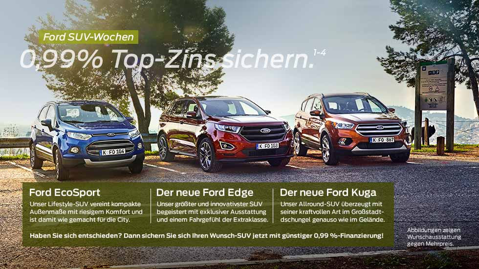 ford suv wochen ford aktionen angebote ford autohaus. Black Bedroom Furniture Sets. Home Design Ideas